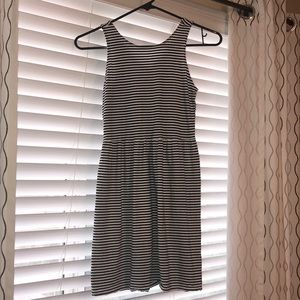 Black/ White striped dress